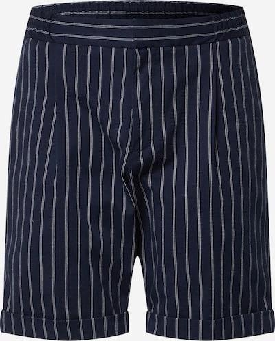 Pantaloni con pieghe SCOTCH & SODA di colore blu scuro / bianco, Visualizzazione prodotti