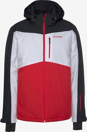 Maier Sports Skijacke in rot / schwarz / weiß, Produktansicht