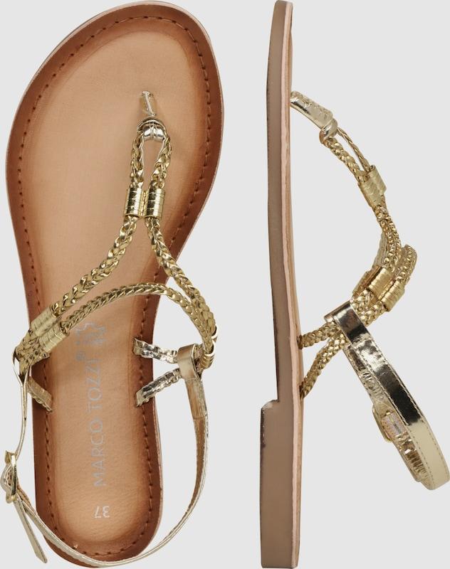 MARCO TOZZI | Sandale mit Schuhe Zehensteg Schuhe Gut getragene Schuhe mit 0e6e2f