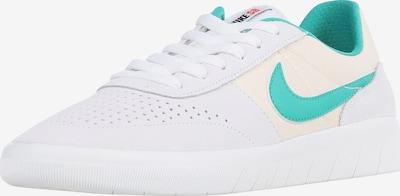 Nike SB Sneakers laag 'Team Classic' in de kleur Crème / Lichtgrijs / Jade groen, Productweergave
