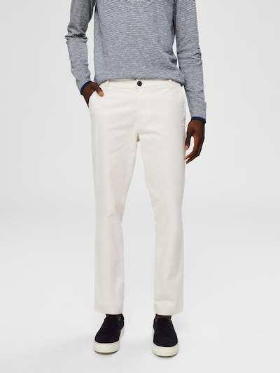 SELECTED HOMME SLHPARIS REGULAR FIT - Chino in weiß, Modelansicht