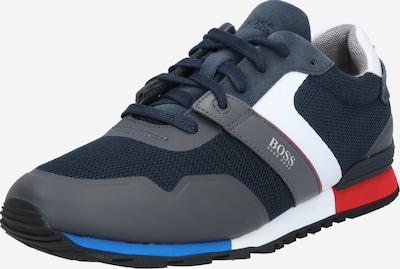 BOSS Sneaker 'Parkour_Runn_meth' in blau / navy / rot / weiß, Produktansicht