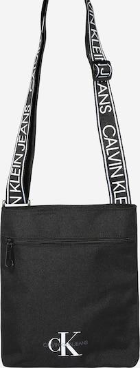 Calvin Klein Jeans Taška cez rameno 'FLATPACK W/PCKT' - čierna: Pohľad spredu