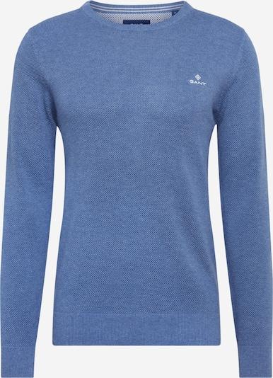 GANT Svetr 'COTTON PIQUE CREW' - modrá džínovina, Produkt
