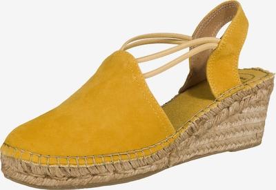 Toni Pons Keilsandaletten 'Tremp' in gelb, Produktansicht
