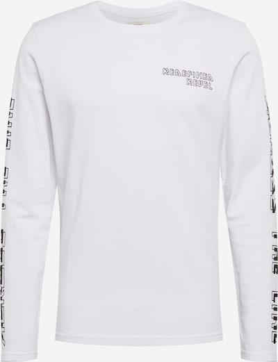 Redefined Rebel T-Shirt 'Bevin' en noir / blanc, Vue avec produit