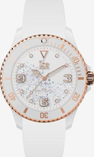 ICE WATCH Uhr in rosegold / weiß: Frontalansicht