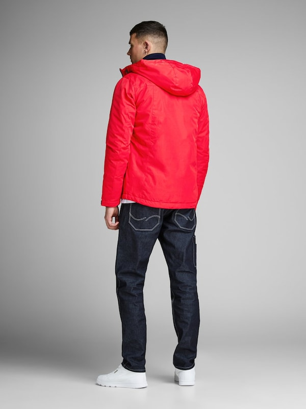 JACK & JONES Átmeneti dzseki piros fekete színben | ABOUT YOU