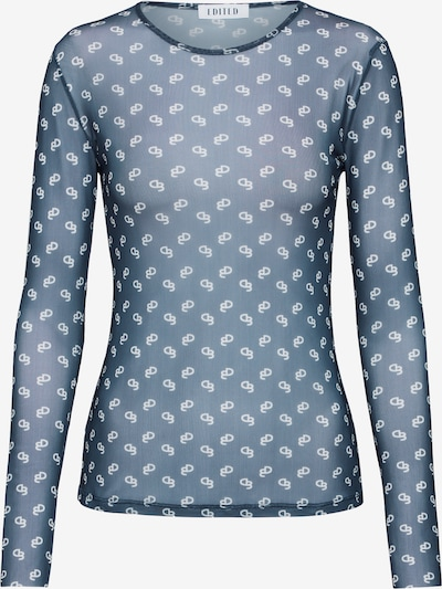 EDITED Shirt 'Giovanna' in blau / weiß, Produktansicht