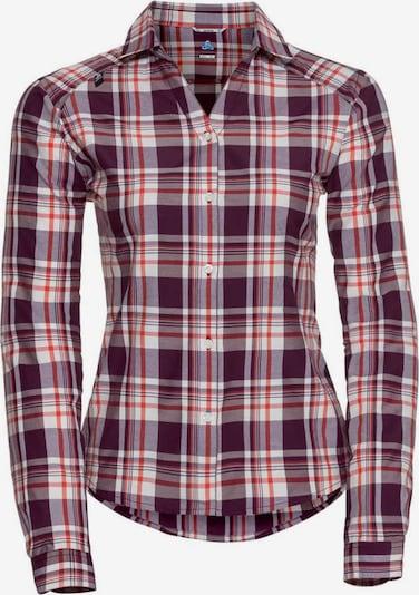 ODLO Hemd 'Anmore' in beige / dunkellila / rot, Produktansicht