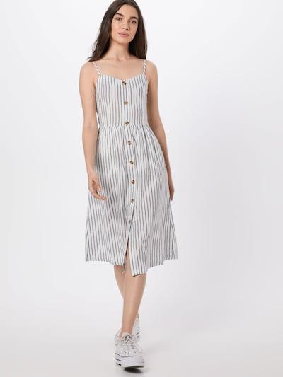 ONLY Kleid 'onlLuna Strap Stripe DNM QY T' in dunkelgrau / weiß, Modelansicht