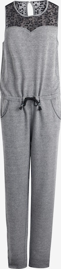 DREIMASTER Jumpsuit in grau / schwarzmeliert, Produktansicht