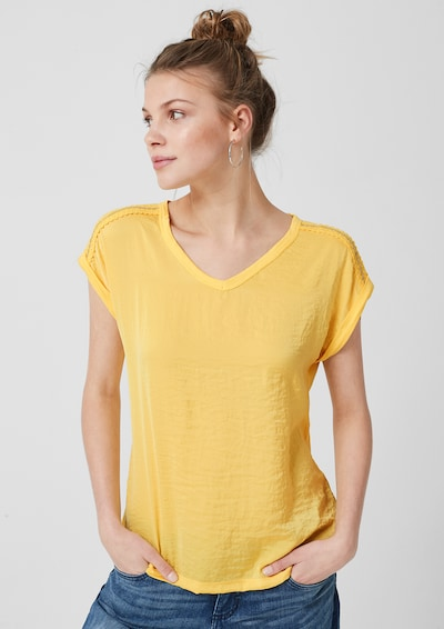 s.Oliver Blusenshirt in limone: Frontalansicht