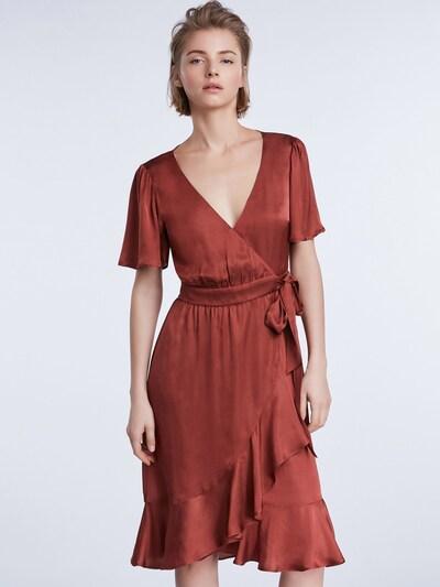 SET Šaty - rezavě červená: Pohled zepředu