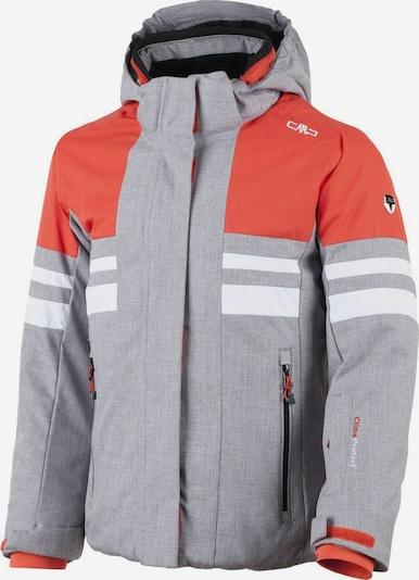 CMP Jacke in graumeliert / lachs / weiß, Produktansicht