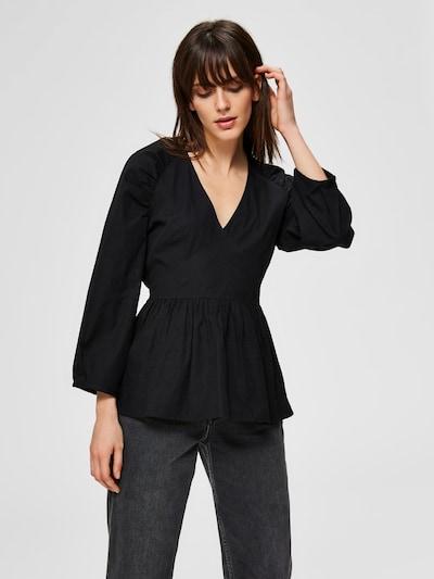 SELECTED FEMME Bluse in schwarz, Modelansicht