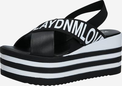 REPLAY Sandale in schwarz / weiß, Produktansicht