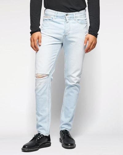 Calvin Klein Jeans Tapered-Fit-Jeans mit Farbeffekten in hellblau, Produktansicht