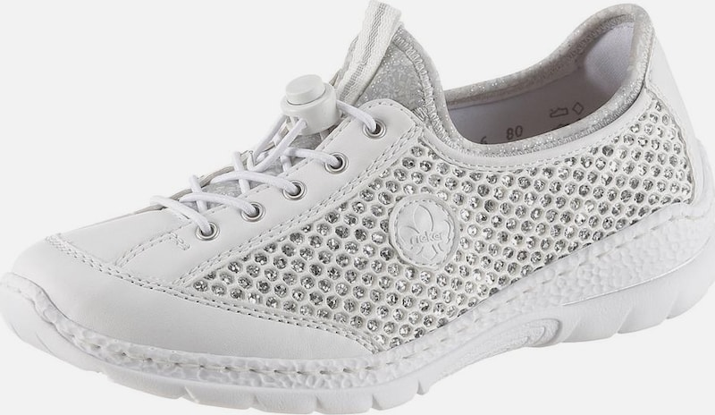 RIEKER Sneaker puder silber