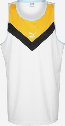 PUMA Shirt in de kleur Geel / Zwart / Wit, Productweergave