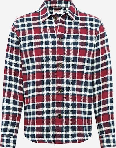 KnowledgeCotton Apparel Hemd 'PINE' in navy / bordeaux / weiß, Produktansicht