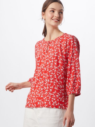 Cream Bluse 'Daisy' in rot / weiß: Frontalansicht