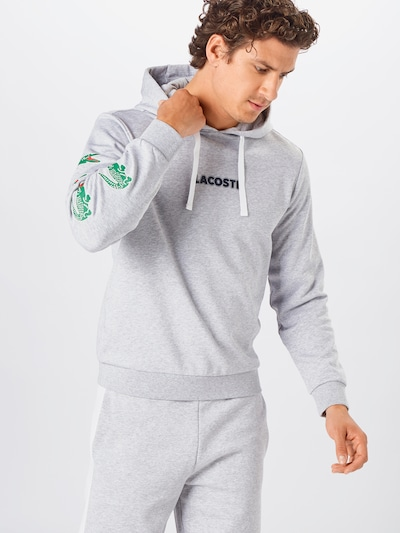 Lacoste Sport Sportsweatshirt in grau / grün: Frontalansicht