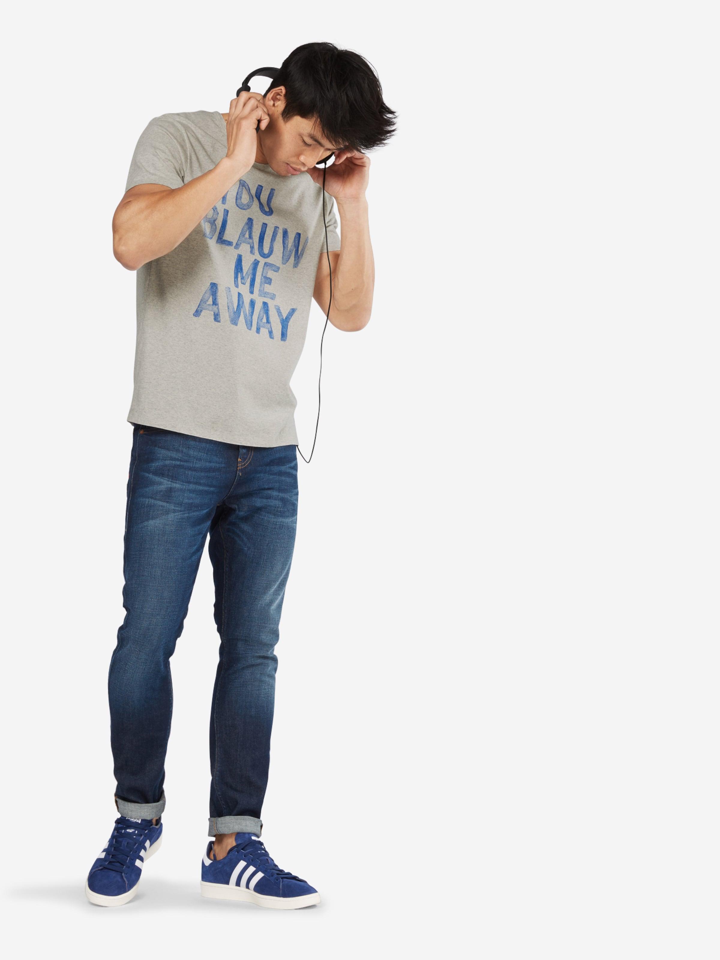 SCOTCH & SODA T-Shirt 'Ams Blauw tee with artwork' Großer Verkauf CxpdRk