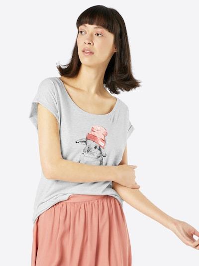 Iriedaily Majica 'It Hasi' u ecru/prljavo bijela / tamo siva / roza / ružičasta: Prednji pogled