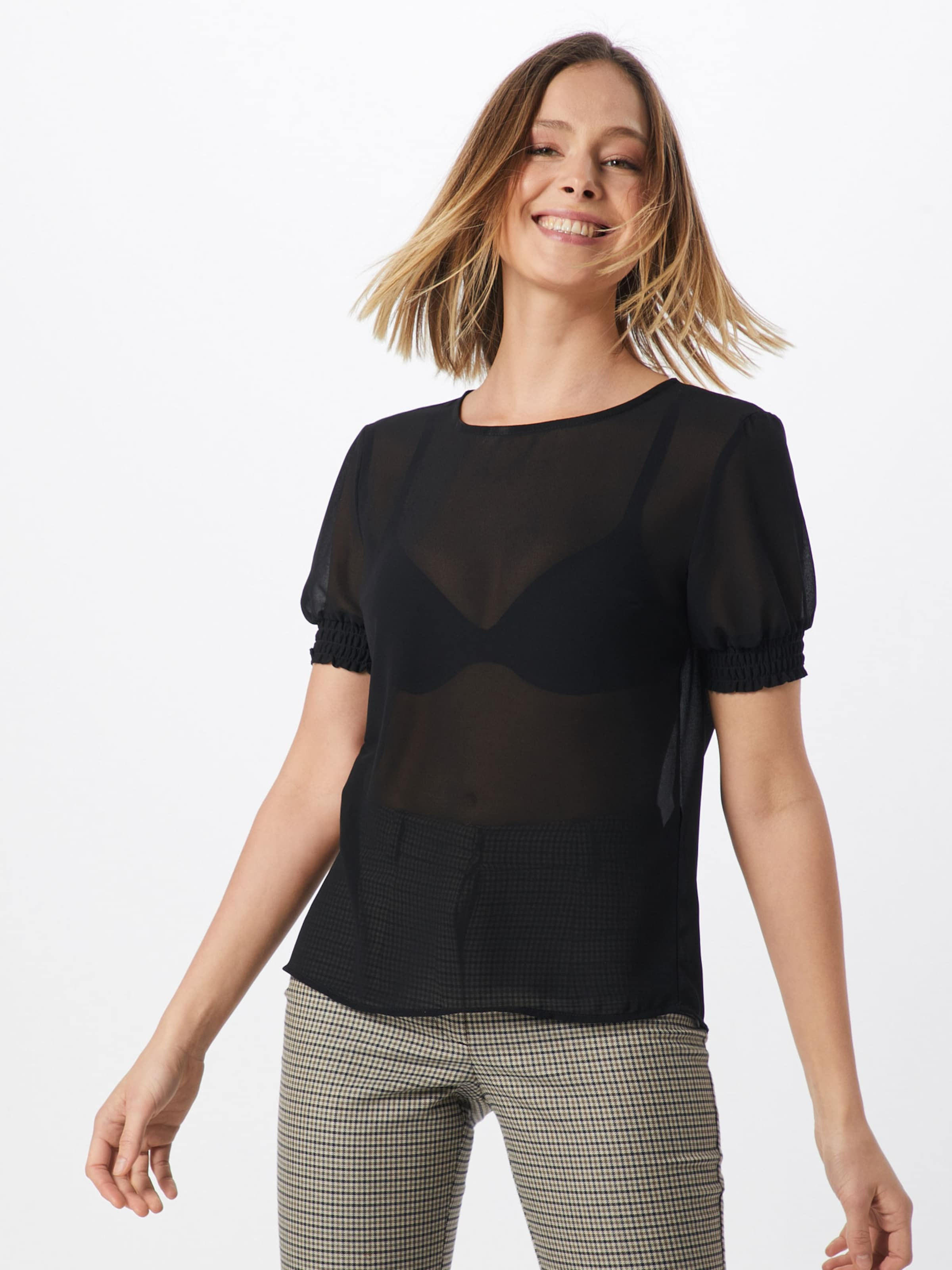 Schwarz T shirt 'amalie' In Pieces OkXZuPi