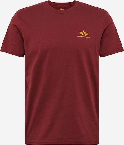 ALPHA INDUSTRIES Camiseta en amarillo oscuro / borgoña, Vista del producto