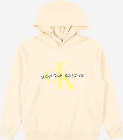 Calvin Klein Jeans Hoodie 'Natural Dye' in creme / gelb / schwarz, Produktansicht