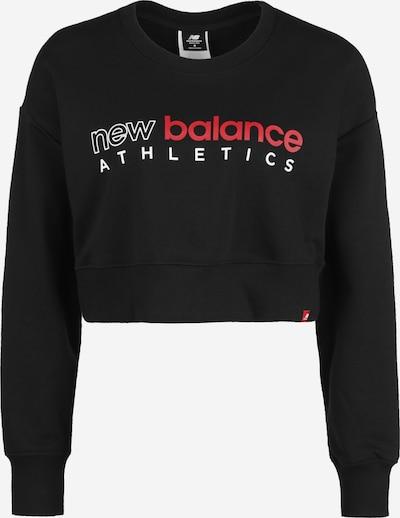 new balance Sportief sweatshirt ' Wt01513 ' in de kleur Rood / Zwart / Wit, Productweergave