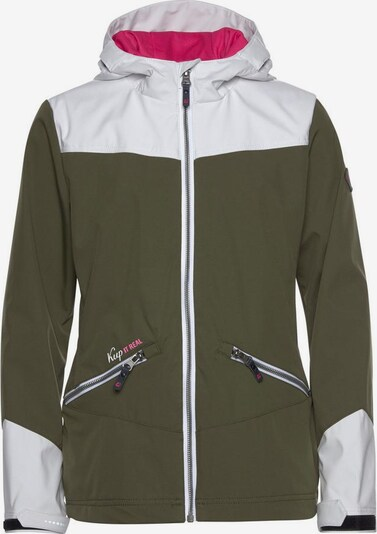 KILLTEC Softshelljacke 'Letia' in khaki / weiß, Produktansicht
