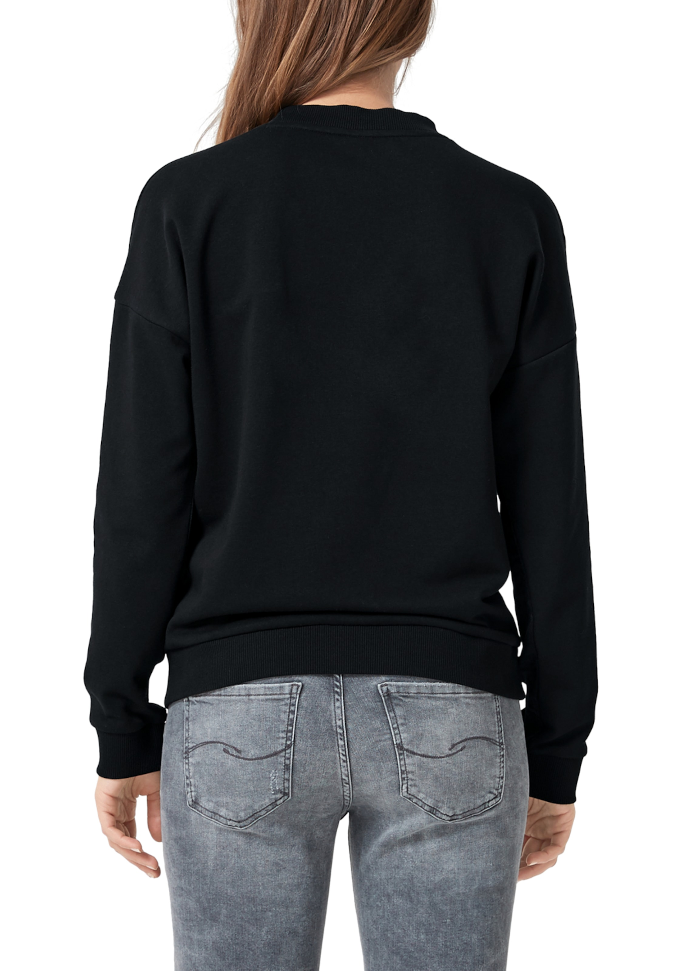 By s Sweatshirt In Designed Q Schwarz T1lcuFKJ3