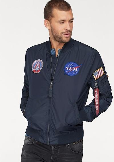 ALPHA INDUSTRIES Tussenjas 'MA-1 TT NASA REVERSIBLE II' in de kleur Blauw: Vooraanzicht