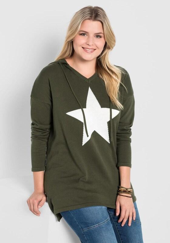 sheego casual V-Ausschnitt-Pullover