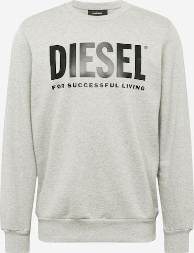 DIESEL Sweatshirt in graumeliert / schwarz, Produktansicht