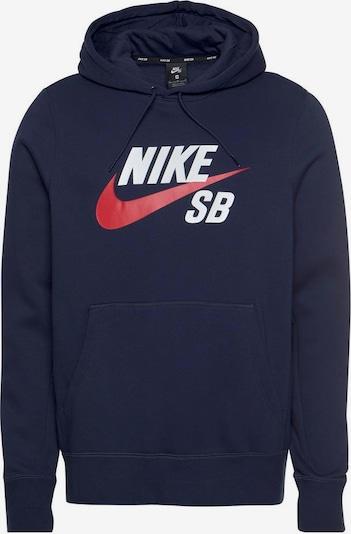 NIKE Sweatshirt 'Essential' in marine / rot / weiß, Produktansicht