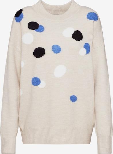 TOM TAILOR Pullover in beige / blau / schwarz / weiß, Produktansicht