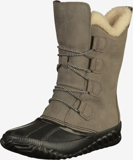 SOREL Snowboots 'Out 'n About Plus Tall' in de kleur Taupe / Zwart, Productweergave