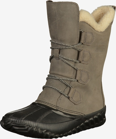 SOREL Stiefel 'Out 'n About Plus Tall' in taupe / schwarz, Produktansicht