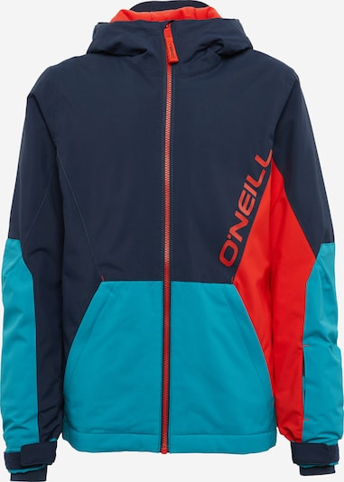 O'NEILL Outdoorjas 'PB STATEMENT' in de kleur Donkerblauw / Petrol / Rood, Productweergave