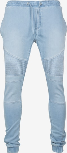 Urban Classics Joggpants 'Biker' in blue denim: Frontalansicht