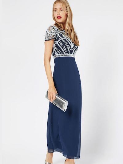 Vakarinė suknelė 'BOUTIQUE FRANCESCA' iš Boohoo , spalva - tamsiai mėlyna / balta, Modelio vaizdas