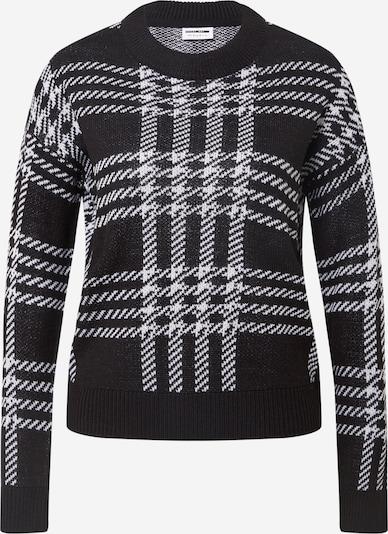 Noisy may Pullover 'SQUARE' in schwarz / weiß, Produktansicht