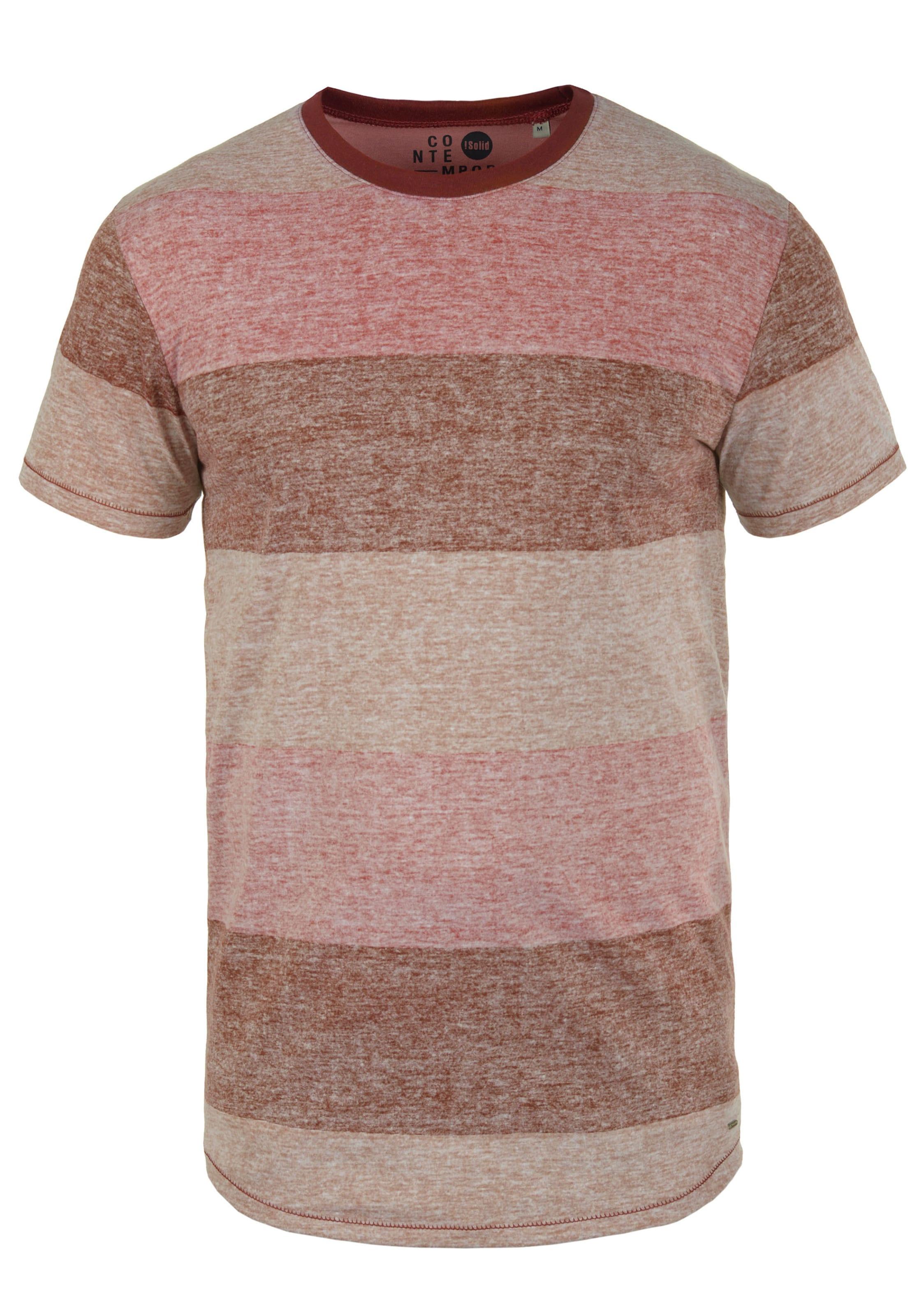 Rundhalsshirt In solid Rot 'teine' PXkiOTZu