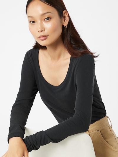 PIECES Shirt 'Kaitlin' in schwarz: Frontalansicht
