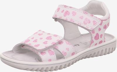 SUPERFIT Sandale 'Sparkle' in rosa / weiß, Produktansicht