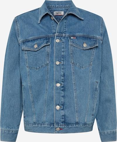 Tommy Jeans Tussenjas in de kleur Blauw denim / Lichtrood / Wit, Productweergave